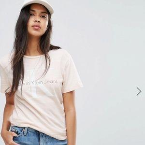 Calvin Klein Striped Logo Tshirt